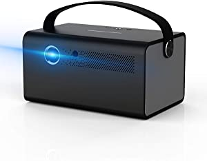 Video Projector TOUMEI V7, 3D DLP Link Android 6.0 Smart Projector 600ANSI 4500 Lumens Keystone Correction WiFi Mirroring for iPhone iPad Android Support 4K Input HDMI/USB/TF 2G ROM 16G Flash