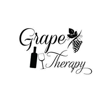 Amazon Com Grape Therapy Funny Wall Decals Vinyl Wall Art Decal