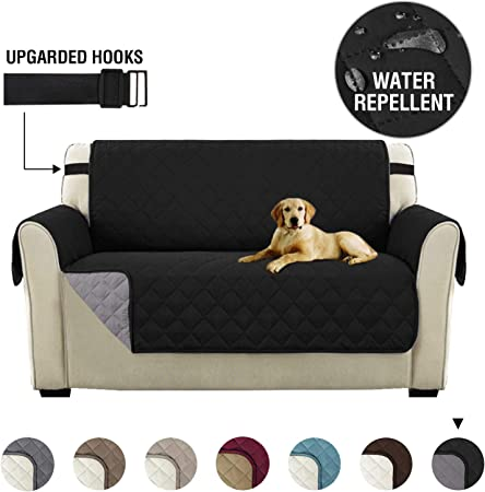 Original Reversible Couch Slipcover Furniture Protector, 2 Seater Sofa Quilted, Sitting Width Up to 46