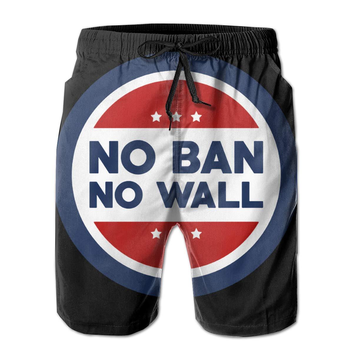 No Ban Mens Quick Dry Swim Trunks Beach Shorts Board Shorts No Wall