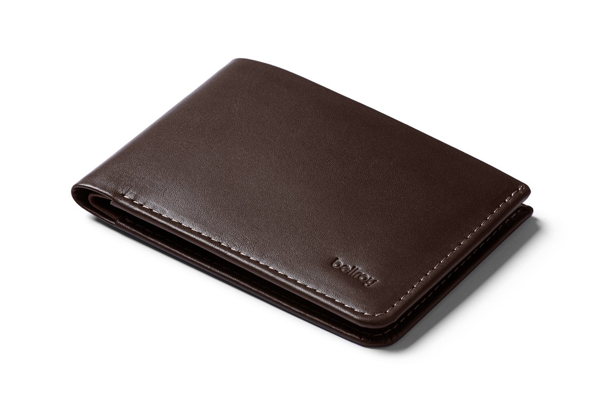 Bellroy Low Wallet, slim leather wallet (Max. 12 cards and flat bills) Java