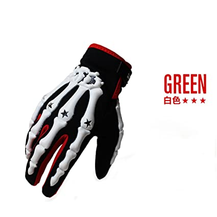 Ghost hand MTB Bicycle Road Cycling Bike Full Finger Glove racing Gloves Green