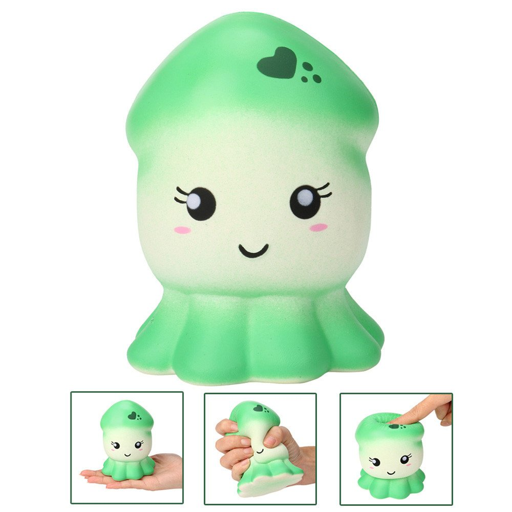 Dimanul Squishies slow rising squishy ball jumbo toy Kawaii squishies pack cheap Stress Relief giant squishy Animal Squid Scented Toys For Kids and Adults cute emoji squishy
