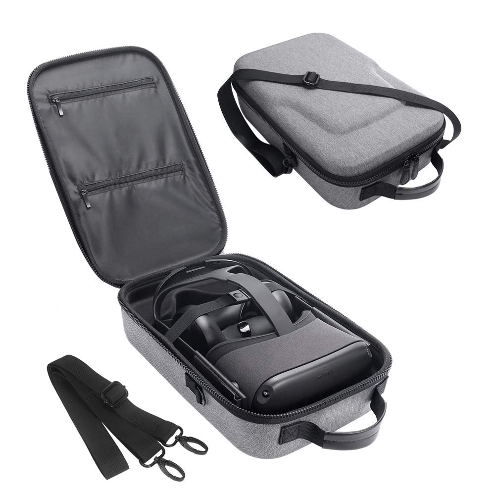 Simumu Travel Case for Oculus Quest 2 / Oculus Quest VR Gaming Headset and Controllers Accessories Carrying Bag(Gray)