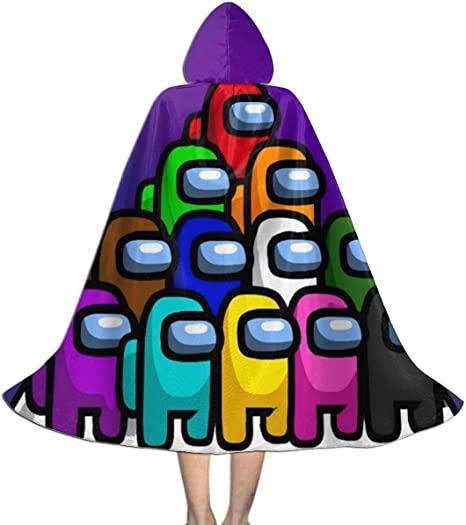 Amazon Com Mjzhw All Among Us Characters Game Childrens Hooded Cloak Cloak Christmas Halloween Party Childrens Costume Clothing