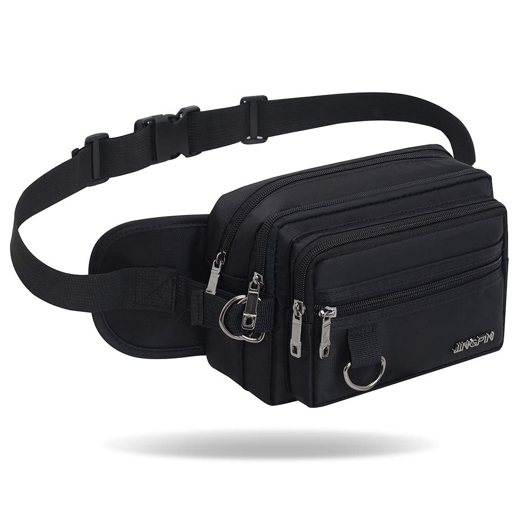 8437efc3fb9b Bum Bag Fanny Pack Waist Bag Money Hip Pouch Pack 4 Zip Pockets Adjustable  Belt for Travel Hiking Cycling Fishing Outdoor Sport Holiday