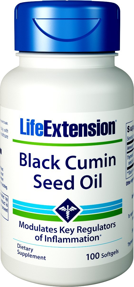 Life Extension Black Cumin Seed Oil Softgels, 100 Count