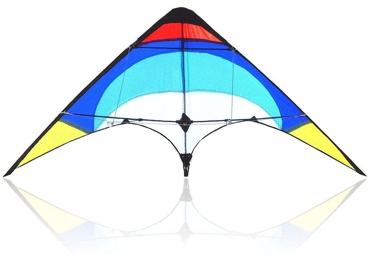Bee-Kite Easy Stunt - Aquilone Acrobatico Delta 2 cavi 135x65 cm. Straps Bee-Kyte