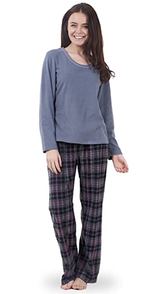 Conjunto de pijama de forro polar súper suave para señora Prenda para dormir de mujer lisa