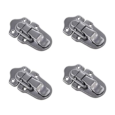 RZDEAL 4Pcs Luggage Suitcase Case Box Hasp Latch Toolbox Buckle Lock Flight Case Hasps Latches [5Bkhe1013553]