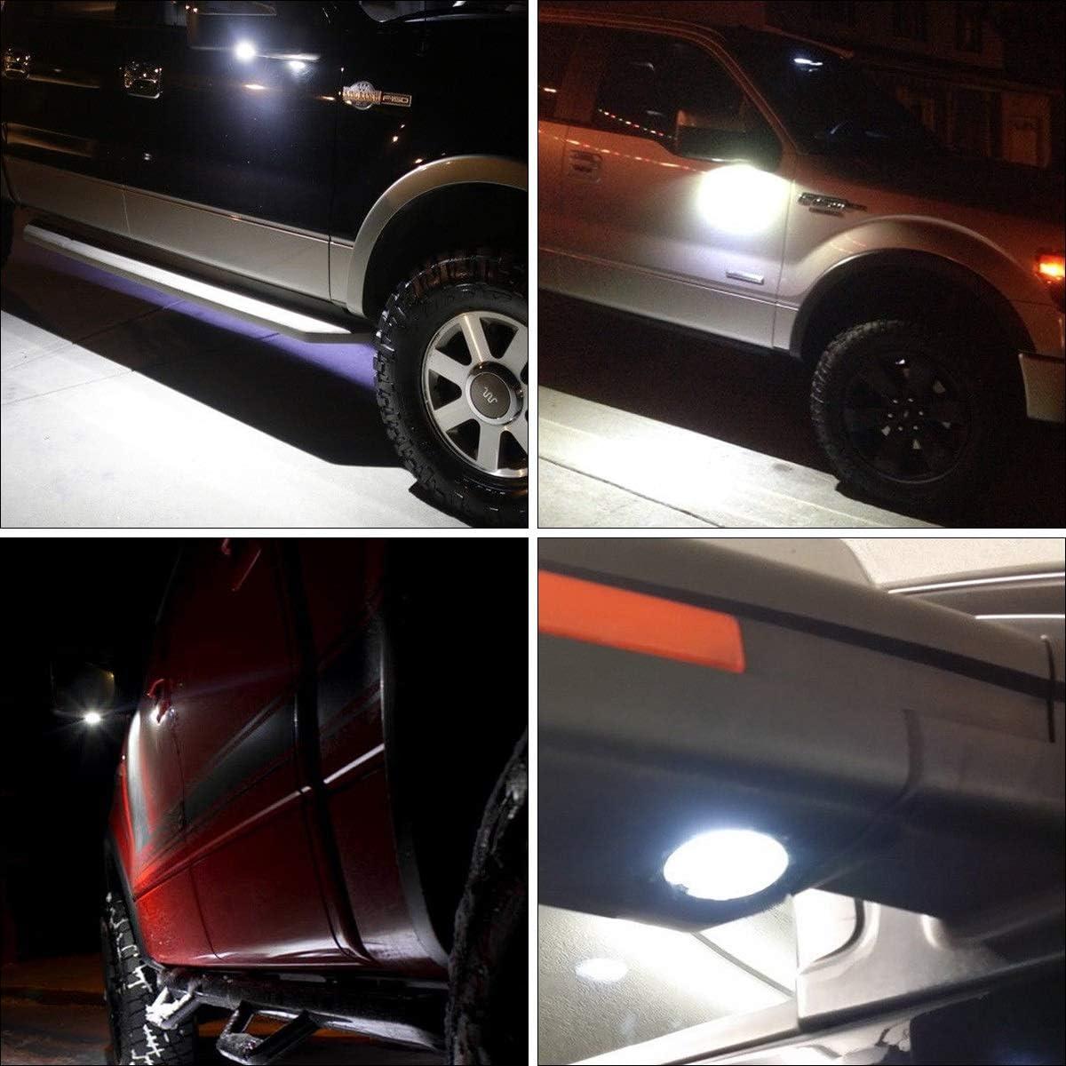 2 luci a LED per specchietti laterali per specchietto retrovisore ad alta potenza Dibiao 9-16 V