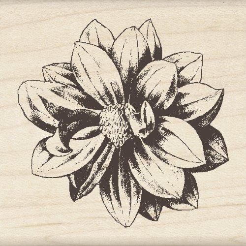 Inkadinkado Wood Stamp, Medium Flower