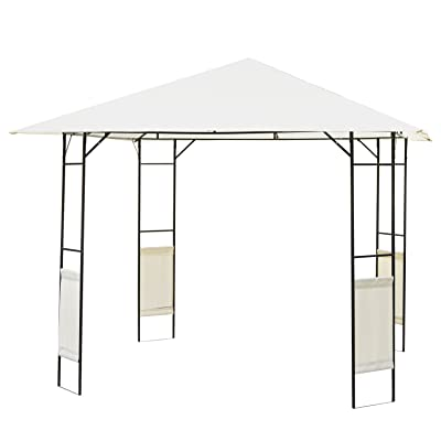 Outsunny 10'x10' Outdoor Modern Gazebo Canopy Cover with Cloth Side Panels : Garden & Outdoor