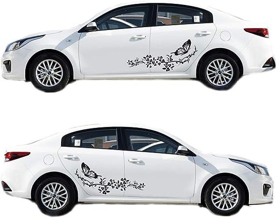 ST00028BL/_3 JAS Stickers/® Papillon monarque autocollants de voiture animale caravanes camions t/él/éphone grand pack dautocollants en vinyle pour ordinateur portable v/élo bateaux bleu