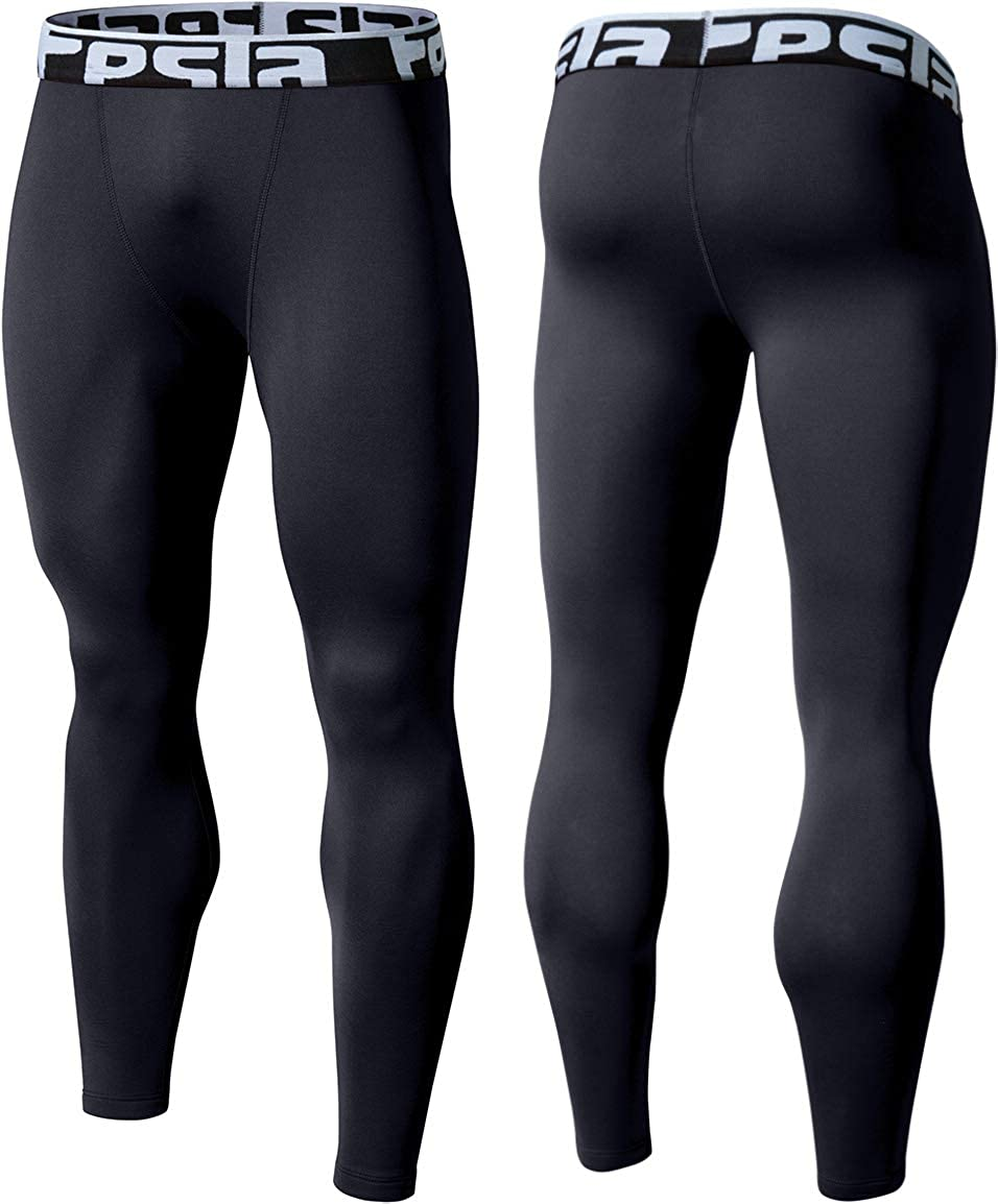 TSLA Men's Thermal Compression Pants, Athletic Sports Leggings & Running Tights, Wintergear Base Layer Bottoms : Clothing