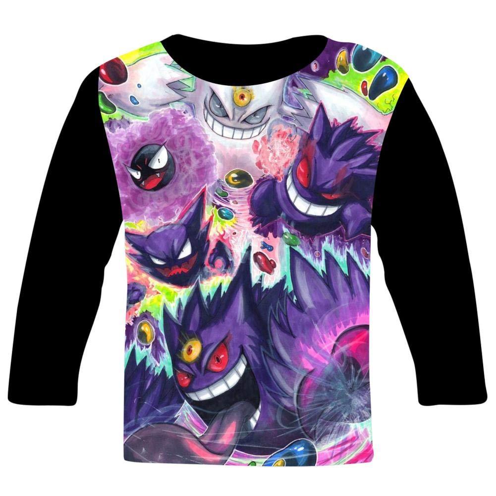 VSHFGC Kid//Youth Me-Ga GeN-gAr T-Shirts 3D Long Sleeve Tees for Girls Boys