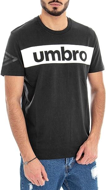 Giosal Camiseta de Hombre Umbro RAP00002B Negra Impresión ...