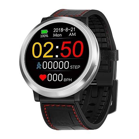 Fcostume Smart Watch Sport Fitness Actividad Tracker Tensiómetro de Reloj Corazón IP67 Impermeable, Negro