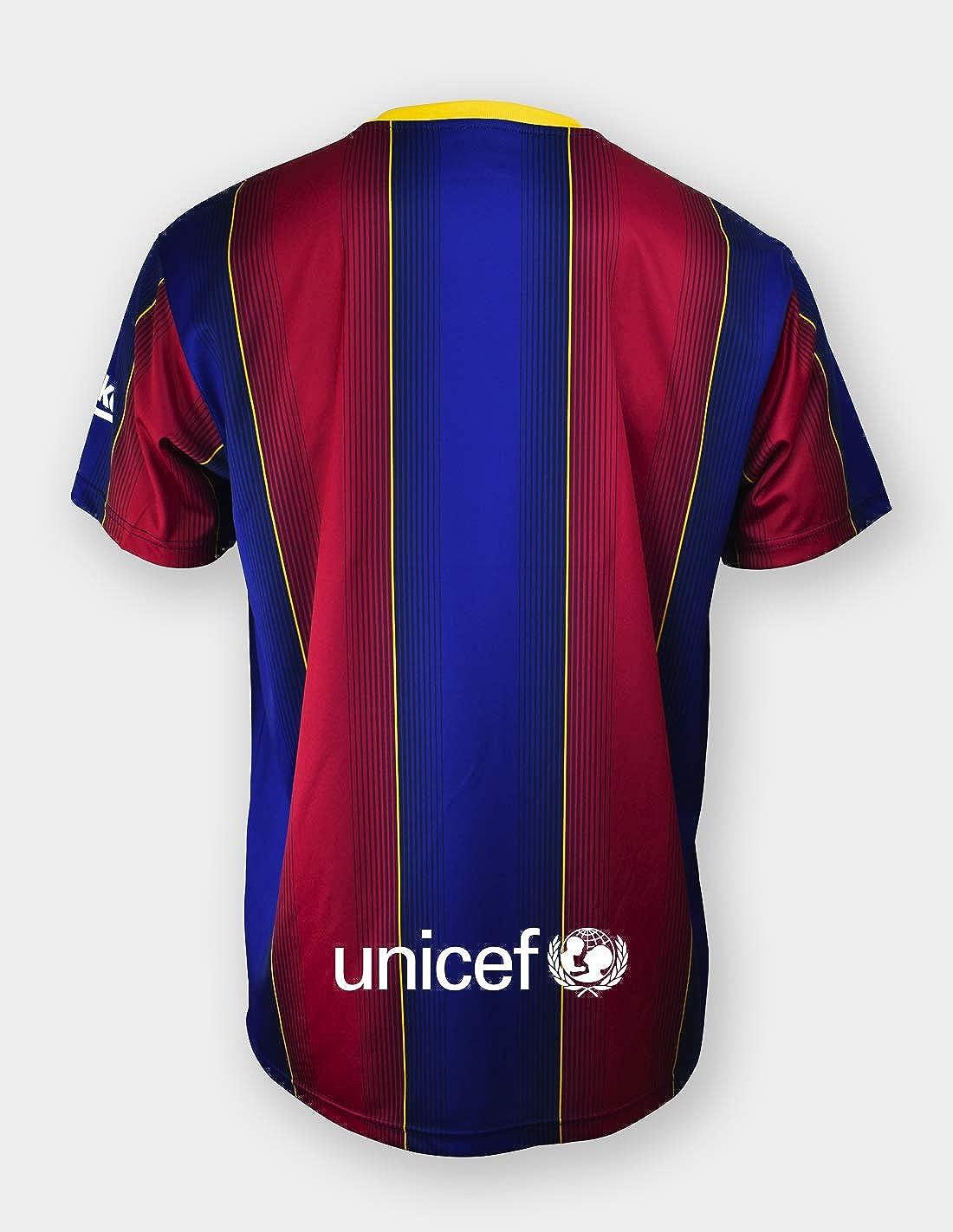 Talla S Dorsal 10 Messi- 100/% Poli/éster Camiseta Replica FC Producto con Licencia Barcelona 1/ª EQ Temporada 2020-21