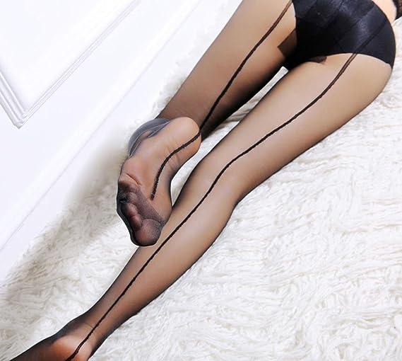 Señora piel sintética calcetas one size medias negro halterlos