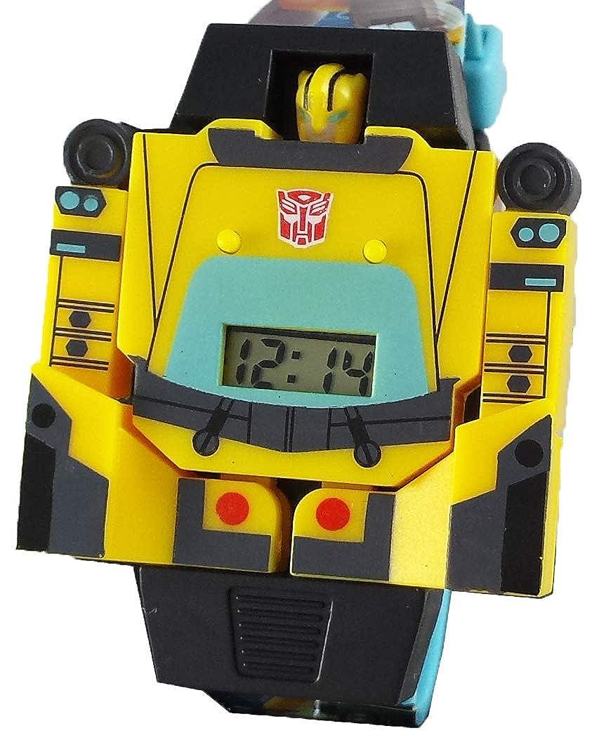the best attitude 8ed2b 257fb Amazon.com  Transformer Bumblebee Watch Converts into Robot Boys Wrist  Watch  Watches