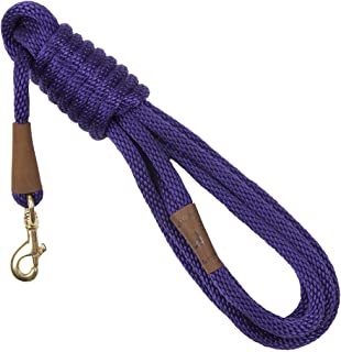 product image for Mendota Pet Long Snap Leash - Dog Training Lead - Made in The USA - Purple, 1/2 in x 15 ft