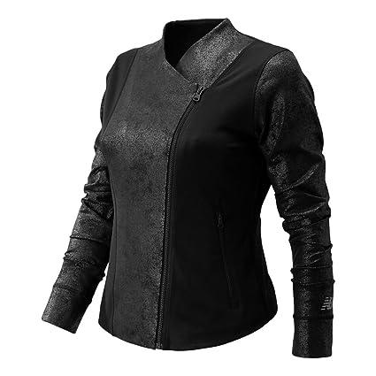 79557a3922993 Amazon.com: New Balance Women's Studio Bomber Jacket, Black, Large ...