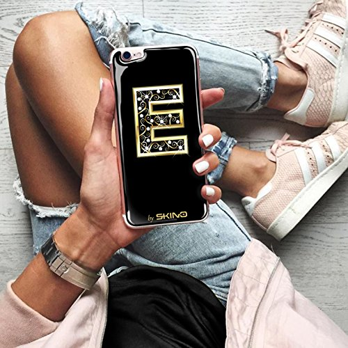 Skino™ Custodia Skin 3D Anti-Gravità Case Cover Resina Gel per iPhone 5 / 5s / 5 SE / 6/6 Plus / 6s / 6s Plus / 7/7 Plus Anti-Scratch Protezione 100% UV Antiscivolo Letter Gold Lettera Doro E (iPhone