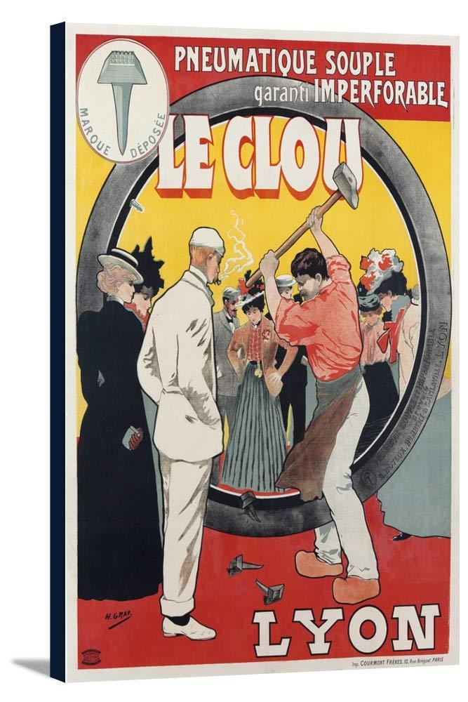 Le Clouヴィンテージポスター(アーティスト:グレー) France 24 x 36 Gallery Canvas LANT-3P-SC-58674-24x36 24 x 36 Gallery Canvas  B0184B2M16