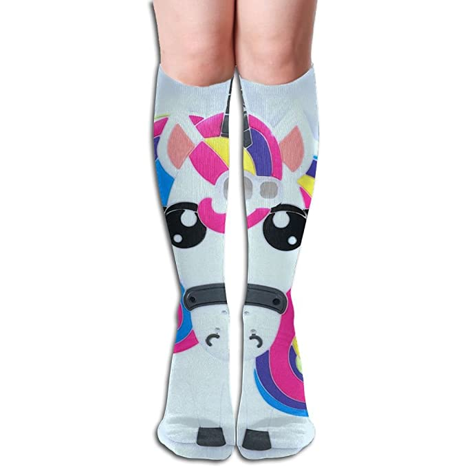 4ad0dad2807 Amazon.com  Crazy Unicorn Knee High Socks Athletic Thigh High Socks ...