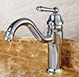 MDRW-All copper basin faucet, single seat water tap,silvery