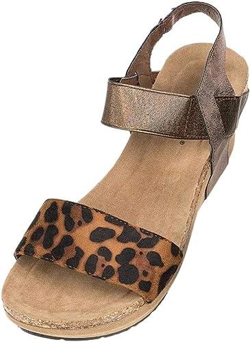 LEvifun Sandales d'été Femme Compensé Chaussures de Été