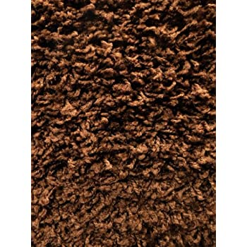 This Item Plain Chocolate Brown Shag Rug 8 Ft. X 10 Ft.