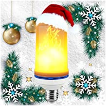 LED Flame Effect Fire Light Bulbs,Creative with Flickering Emulation Lamps,Simulated Nature Fire in Antique Lantern Atmosphere for Vintage Atmosphere for Christmas lights decoration, Hotel/Bars/Home