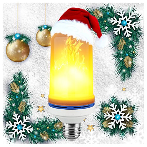 Wreath Oil Lamp (LED Flame Effect Fire Light Bulbs,Creative with Flickering Emulation Lamps,Simulated Nature Fire in Antique Lantern Atmosphere for Vintage Atmosphere for Christmas lights decoration, Hotel/Bars/Home)