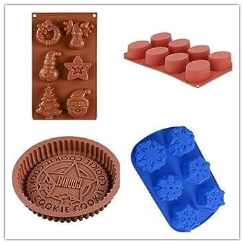 CL – Silicona de Grado Alimenticio molde antiadherente, cubo de hielo, gelatina, galletas