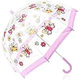Bugzz – Parapluie transparent Fille – Modèle Papillon
