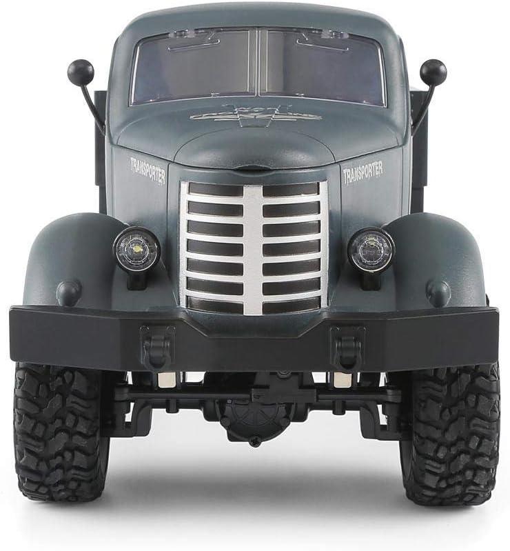 T/él/écommand/é Voiture Arm/ée Radiocommand/és 2,4 GHz Buggy 4 WD /Électrique Voiture Hors Route V/éhicule Rock Crawler Hobbies Jouet Cadeau pour Enfants Gar/çon Tawcal RC Camion Militaire