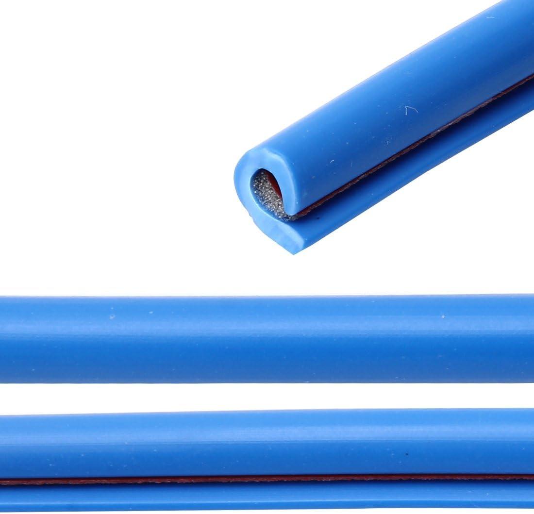 Color : White Voiture D/écorative Bande Car Cover caoutchouc Strip voiture bande d/écorative PVC Chrome D/écoration bande de joint de porte Joint fen/être 5m