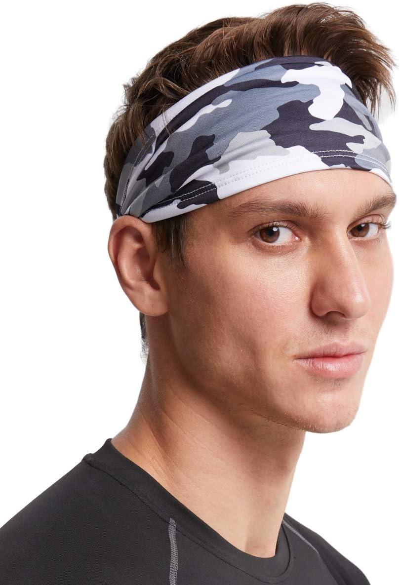 Unisex Sports Sweat sweatband Headband Yoga Gym Stretch Head Band Hair Band
