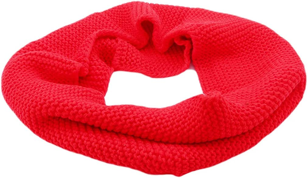 Sevenfly Men Women Winter Thick Knitted Snood Scarf Cosy Woollen Loop Scarf