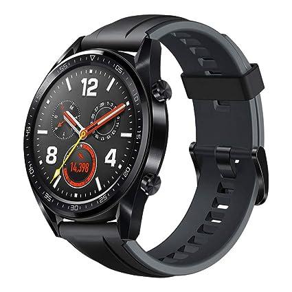 7ba46a636 Huawei Watch GT Sport Rubber Strap, Graphite Black - FTN-B19: Amazon.ae