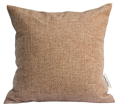 TangDepot Heavy Lined Linen Cushion Cover, Throw Pillow Cover, Square Decorative Pillow Covers, Indoor/Outdoor Pillows Shells - (12