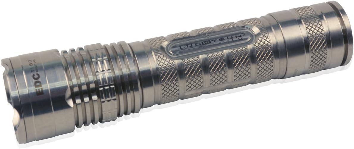 Luckysun Ti50 Titanium Flashlight 18650 1000lm 1A 6000K LED L2 Emergency Torch Light for Outdoor Activities