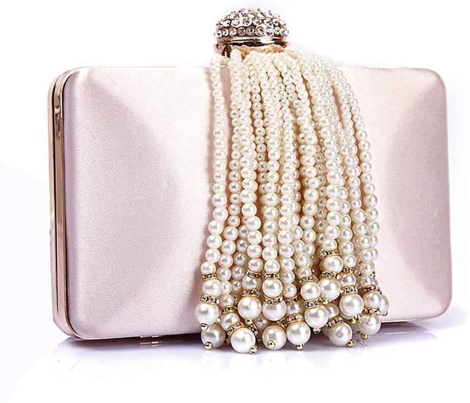 Yangxuelian Borsa da Sera da Donna Pochette da Damigella d\'Onore da Sposa per Donna Borsa da Sposa Borsa da Sposa (Color : Pink) Pink