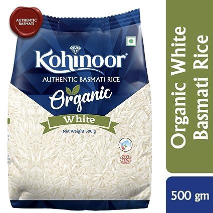 Kohinoor Organic White Authentic  Basmati Rice, 500gm