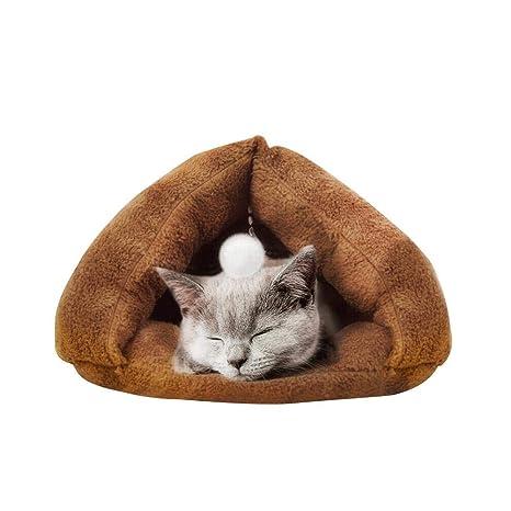 Mascotas Casa Mascotas Nest mascotas cama gato Saco de dormir Pet Nest Cave Forro Polar Suave Peluche ...