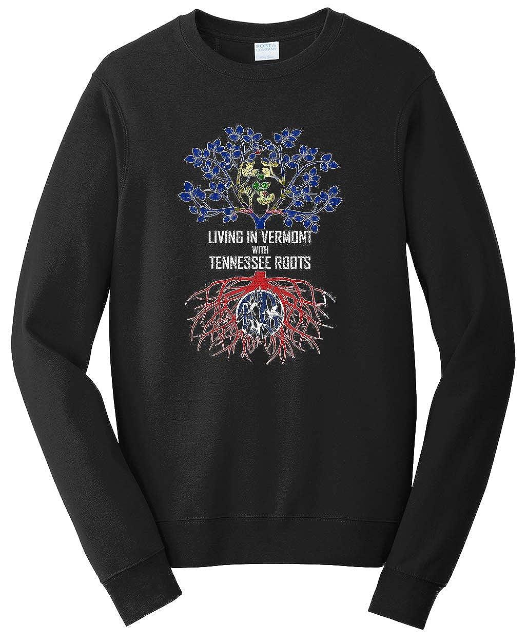 Tenacitee Unisex Living in Vermont Tennessee Roots Sweatshirt