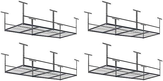 "96/"" W x 48/"" D Overhead Garage Adjustable Ceiling Storage Rack"