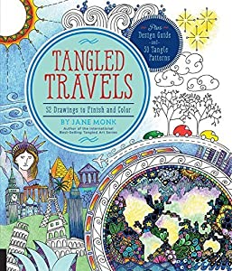 Tangled Travels: 52 Drawings to Finish and Color by Jane Monk (2016-05-01)